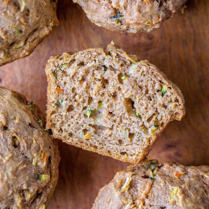 Zucchini Apple Carrot Muffins