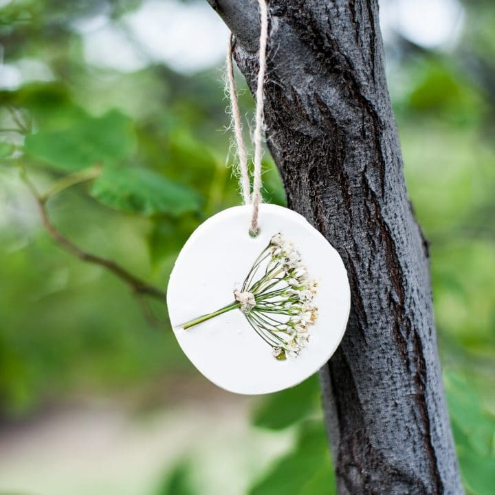 How to Make Pressed Flower Ornaments