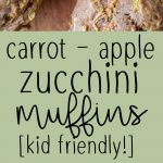 Pinterest collage pin for Zucchini apple carrot muffins