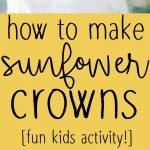 Pinterest long pin for sunflower crowns