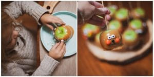Decorating Halloween Caramel Apples