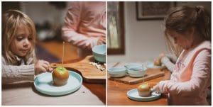 Decorating Halloween Caramel Apples