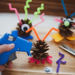Creating a pinecone monster
