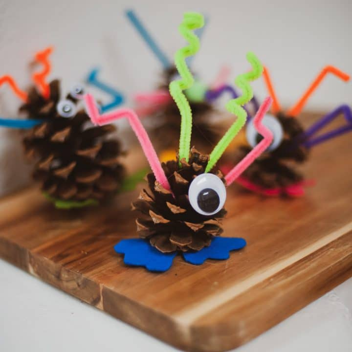 Silly pinecone monsters