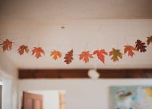 Fall leaf garland.