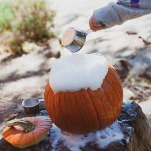 Erupting pumpkin.