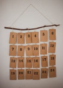 An activity advent calendar.