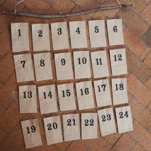 How to arrange envelopes for an activity advent calendar.