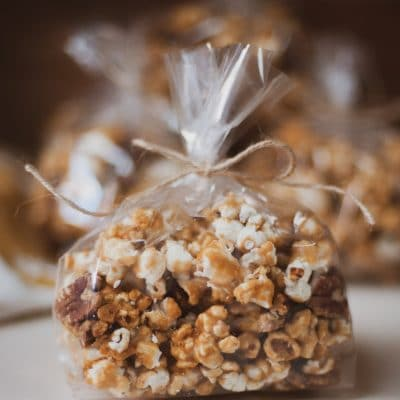 The Best Caramel Corn with Pecans