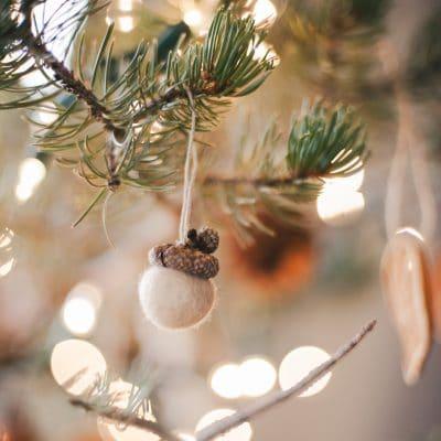 Felt Acorn Ornaments
