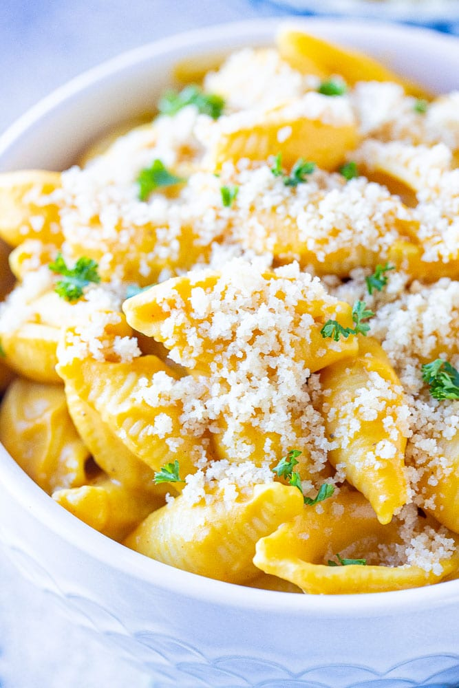 Close up of Mac and cheese recipe