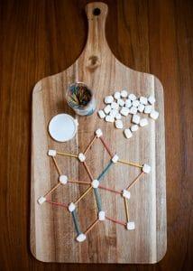 A complex marshmallow snowflake.