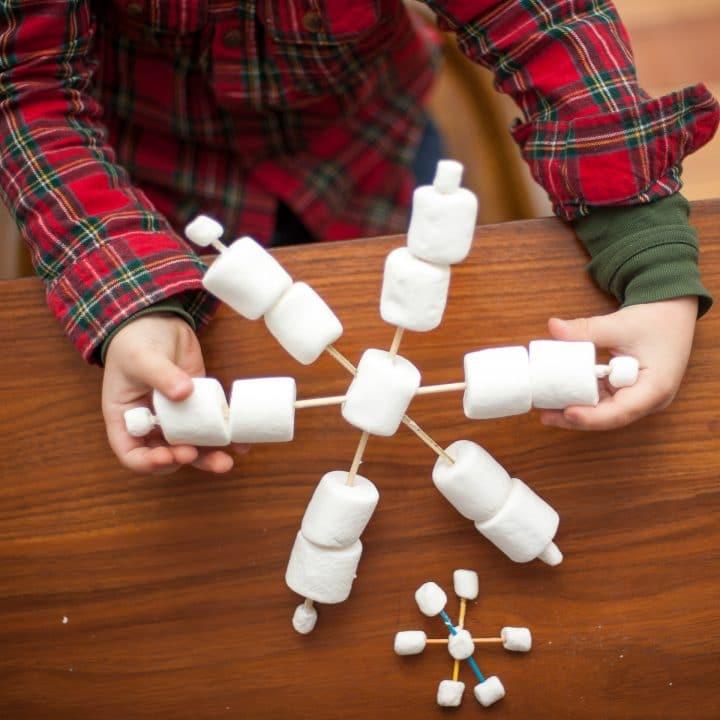How to Make Marshmallow Snowflakes