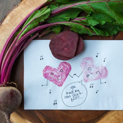 Beet Heart Stamps