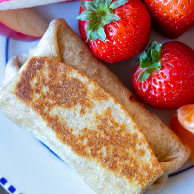 Potato Egg & Cheese Breakfast Burritos {Kid Friendly}