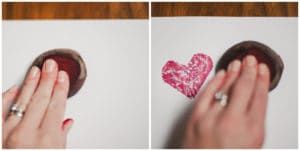 Heart stamps.