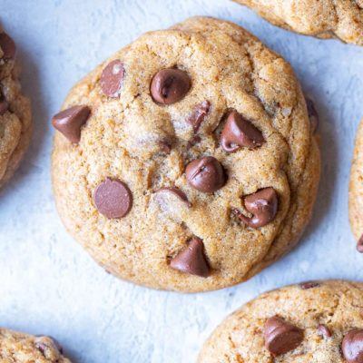 BEST Healthier Chocolate Chip Cookies