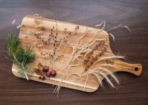 Organic materials gathered to make nature valentines.
