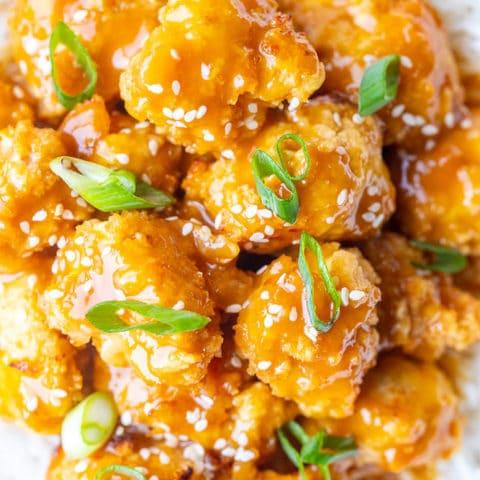 The BEST Vegan Orange Chicken