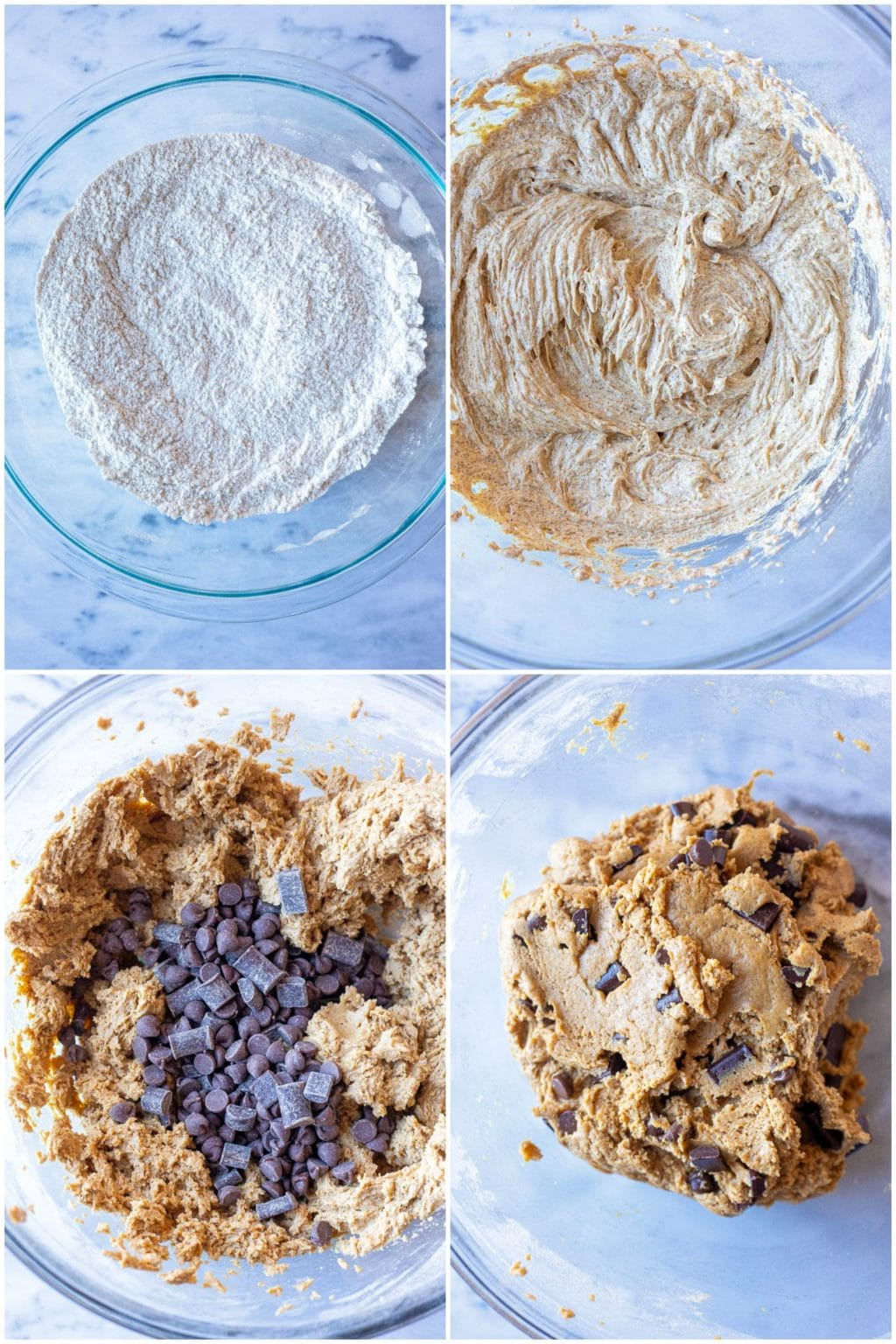 Showing how to make chocolate chip cookies process