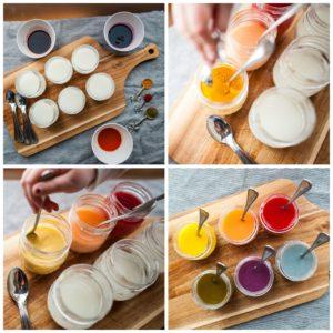 Coloring DIY paints.