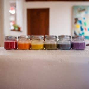 Rainbow color DIY paints.