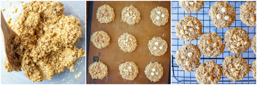 Steps for making these peanut butter banana cookies