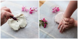 Add food coloring to your white clay.