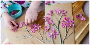 Glue on blossoms.