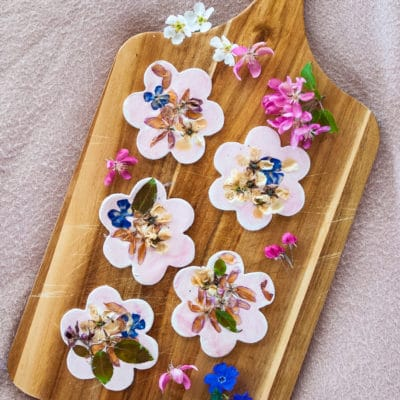 Clay Flower Cookies