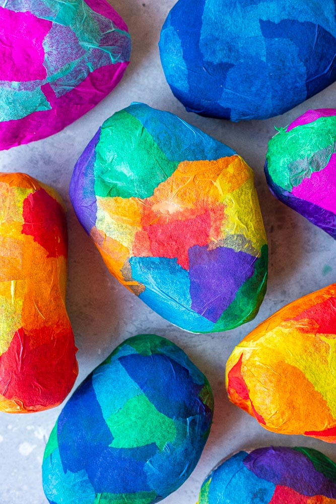 Stained Glass Rocks of all different colors