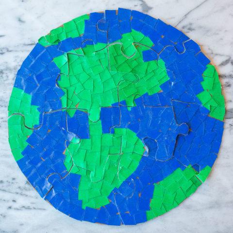 Mosaic Earth Puzzles