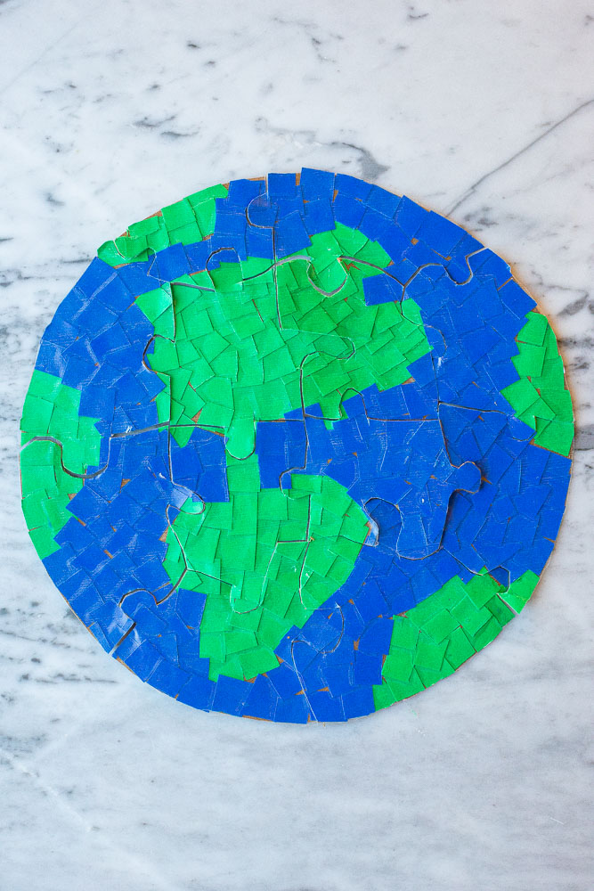 Large photo of an earth puzzle put together
