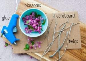 Supplies needed to make Blooming Twig Trees