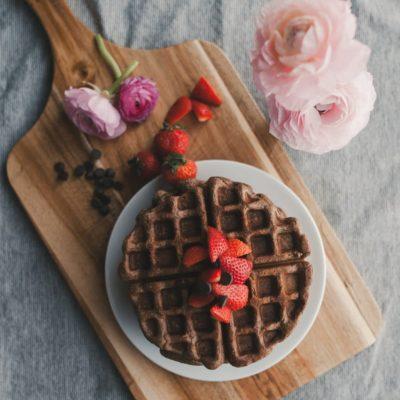 Healthy Chocolate Waffles
