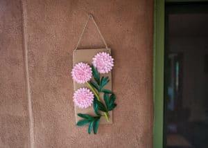 Display pistachio dahlias.