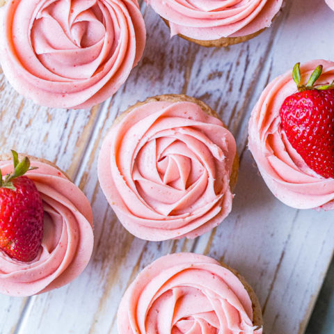 The BEST Strawberry Cupcakes