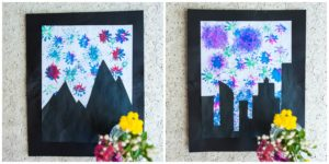 Completed Flower Fireworks picture.
