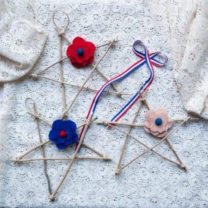 Fourth of July Twig Stars