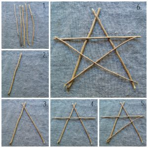 How to make a twig star.