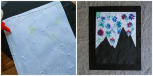 Create a frame for the piece of art.