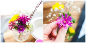 Fresh flowers are used for Flower Fireworks.
