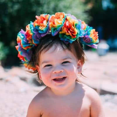 Rainbow Flower Crowns