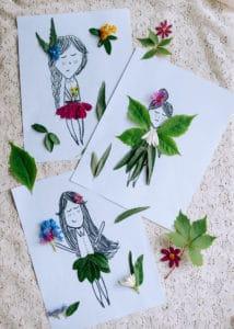 A few decorated Nature Paper Dolls.