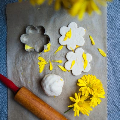 Flower Petal Playdough