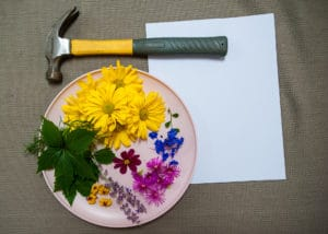 What is needed to make flower stained stationary.