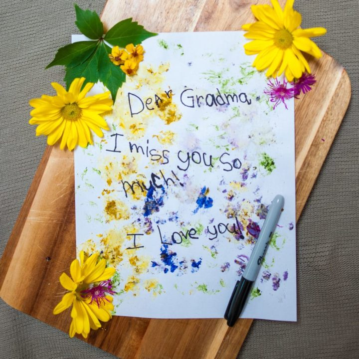 How to Make Flower Stained Stationary