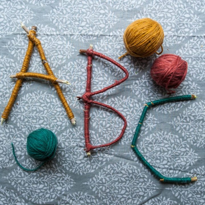 How to Make Twig Letters