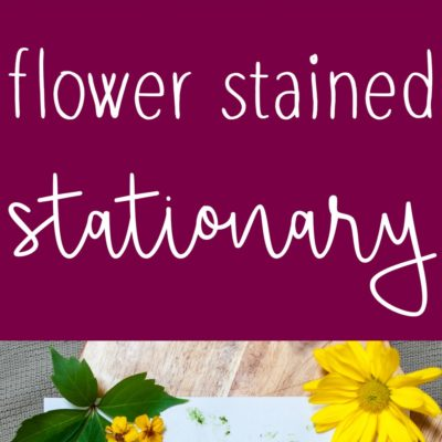Flower Stained Stationary