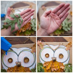 Create eyebrows and horns with oak tree materials.